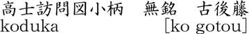 koduka [nomura masahide] Name of Japan
