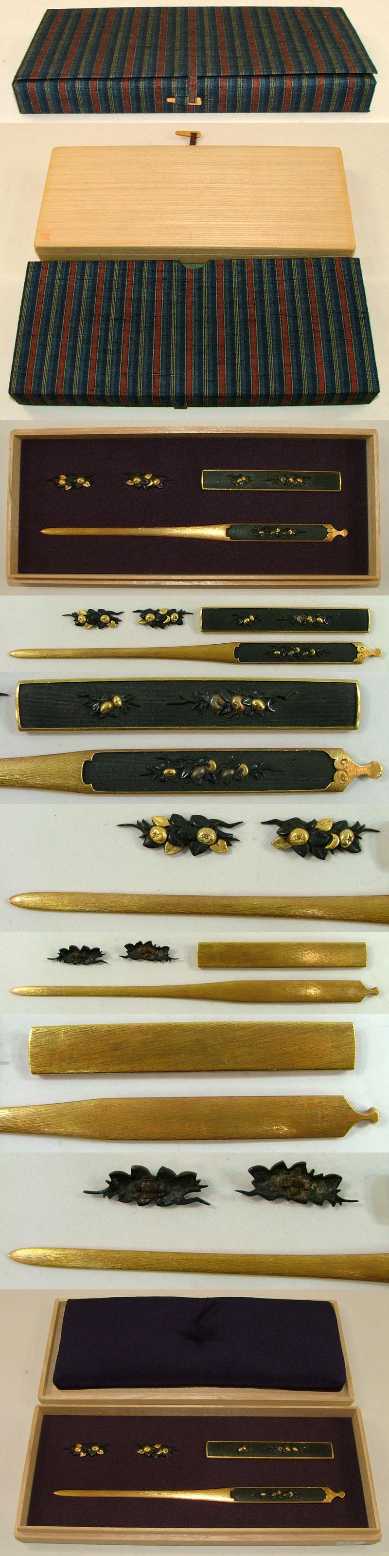橘図3所物 無銘 程乗 (後藤程乗) (9代) Picture of parts