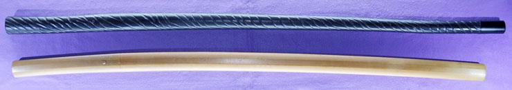 katana [kawachi_no_kami kunisuke] (1 generations) (sintou jou-saku)(wazamono) [Sword cane](zatoichi stick) Picture of SAYA