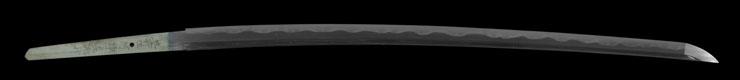 katana [Buzen_ju kouno sadamitsu Toyokuni_ju imagawa_no hotori kunimitsu HEISEI 10] Picture of blade