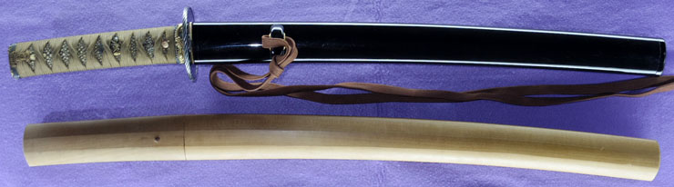 wakizashi (hizen_no_kuni tadatsugu New Japanese swords Exhibition winning work) (Nakao Tadatsugu) Picture of SAYA