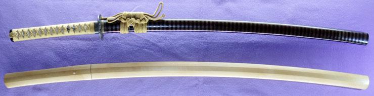 katana [aizu_ju fujiwara michinaga KEIO 2] (miyoshi nagamichi 9 generations) Picture of SAYA