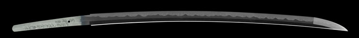 katana [higo_koku yatsushiro_ju akamatsutarou kanehiro saku utsusu kiyomaro use homemade iron HEISEI 28](shinsakutou new sword) Picture of blade
