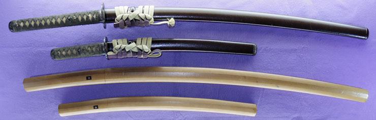 dai shou hitokoshi(long and short set)dai katana     [etchu_ju fujiwara sadaoki saku HEISEI 3]shou wakizashi [sadaoki saku HEISEI 3] Picture of SAYA