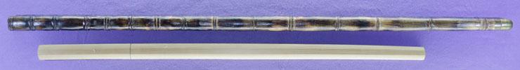 wakizashi [(Kikumon) raijo iga_no_kami fujiwara kinmichi nihon-kaji-sosho] (5 generations)(Sakaba-tou) [Sword cane] (zatoichi stick) Picture of SAYA