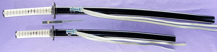 dai shou hitokoshi(long and short set)dai katana [kazusa_no_suke fujiwara kaneshige] (sintou jou-saku) (wazamono)shou wakizashi [kazusa_no_suke fujiwara kaneshige] (sintou jou-saku) (wazamono) Picture of SAYA