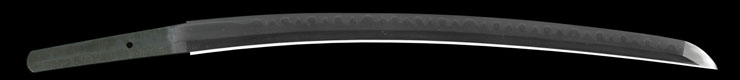 wakizashi [yamato_no_daijo fujiwara sukesada] (sintou jou-saku)          [bizen kuni osafune_ju kaji seito] Picture of blade