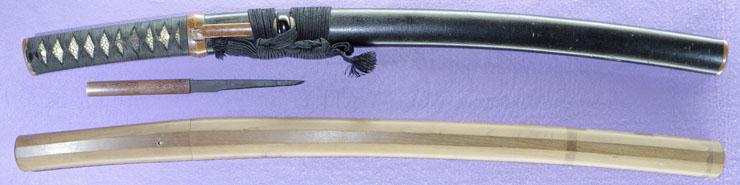 wakizashi [hizen no kuni_ju omi daijo fujiwara tadahiro] (sintou joujou-saku) (wazamono) Picture of SAYA