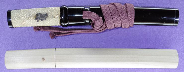 tantou [musashikoku teruyoshi] (bosom sword) (fujieda tarou teruyoshi) (sinsintou jou-saku) Picture of SAYA