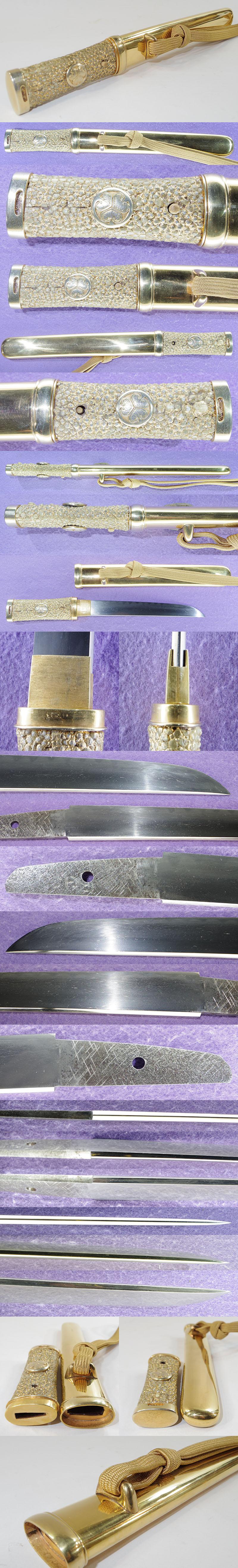 無銘(三葉葵紋短刀合口拵入り) Picture of parts