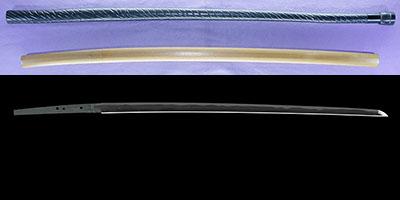 katana [kawachi_no_kami fujiwara kunisuke] (1 generation) (sintou jou-saku) (wazamono) [Sword cane] (zatoichi stick)thumb