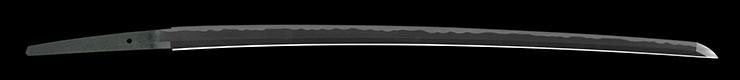katana [oshu aizu_ju masanaga] (miyoshi masanaga) (sintou jou-saku) (yoki wazamono) Picture of blade