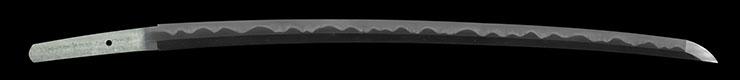 katana [ki_no_kuni arita hachiman_ju Kiyota jiro kunietsu HEISEI 15] (Yosozaemon_no_Jo Sukesada copy) (Maru_ni_katabamimon Koshirae) Picture of blade
