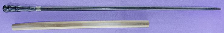 wakizashi [sanjyou munechika] (yamato・MEIJI-TAISHO) [Sword cane] (zatoichi stick) Picture of SAYA
