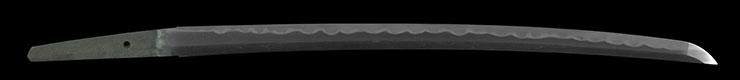 wakizashi [yamashiro_no_kami nimura sakon fujiwara toshinaga HOEI 2] (wazamono) Picture of blade