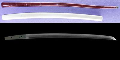 wakizashi Mumei No signature [ganmaku・sintou] (Sword cane) (zatoichi stick)thumb