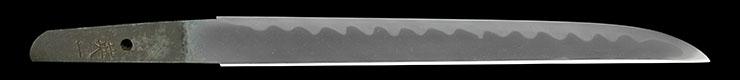 tantou [terukazu] (musashi : TENPO) (gyokurinshi terukazu) Picture of blade