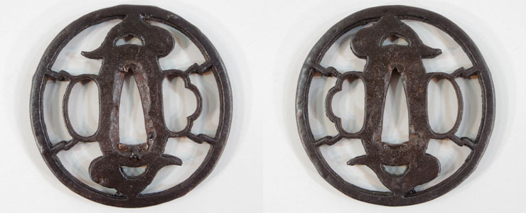 tsuba Heaven and earth and Frog No signature [den kanayama] Picture