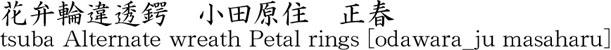 tsuba Alternate wreath Petal rings [odawara_ju masaharu] Name of Japan
