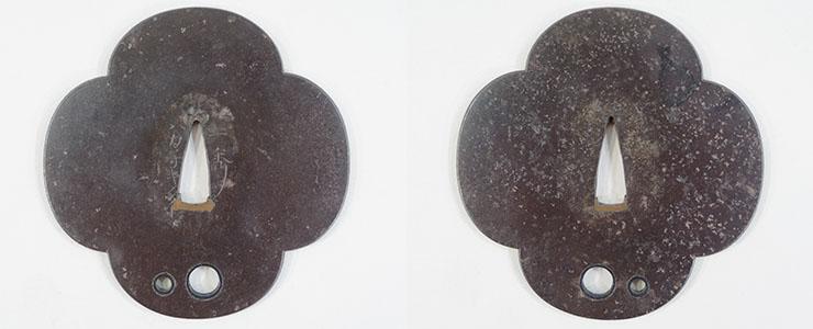 tsuba Polka dot figure [isshu hakakokitai] (ikeda isshu) (Swordsmiths tsuba) Picture