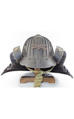 (Antique Kabuto:Samurai helmet) fujiwara□□saku kaou yotsuishimon Picture