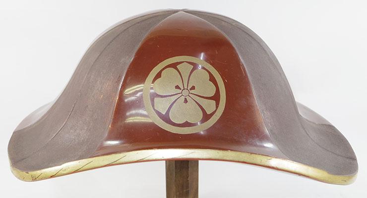 Jingasa (Antique Samurai Hat) maruni hanare ken katabami mon Picture