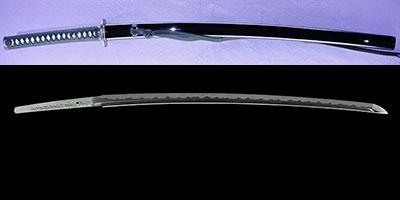 katana [bushidou higo_koku yatsushiro_ju akamatsu tarou kanemitsu use homemade iron REIWA 1] (shinsakutou new sword)thumb