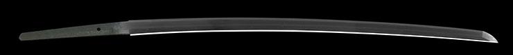 katana [seki zenjoke kaneyoshike musashi_no_kami yoshikado KIMIBANZAI] (first signature of bokuden) (wazamono) Picture of blade