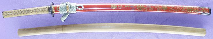 katana [sesshu_ju fujiwara sukehiro] (1 generation soboro sukehiro) (sintou joujou-saku) (saijo oh wazamono) (kutsuwa mon makie-koshirae) Picture of SAYA