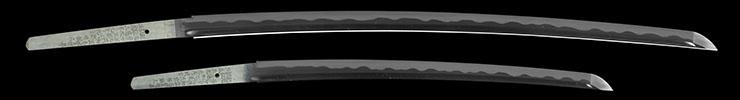 dai shou hitokoshi(long and short set)dai katana [kyushu miike_ju shirou kunimitsu saku HEISEI 5] (komiya kunimitsu 2 generation) shou wakizashi [kyushu miike_ju shirou kunimitsu saku HEISEI 5] (komiya kunimitsu 2 generation) Picture of blade