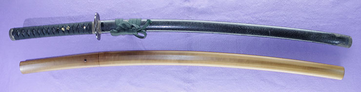 katana [noshu seki zenjoke musashi_no_kami] (yoshikado) (first signature of bokuden) (wazamono) Picture of SAYA
