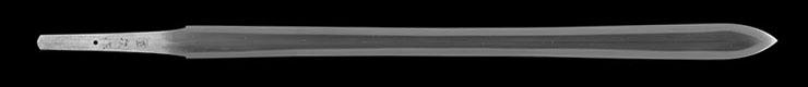 sankozuka_no_ken [kunitsugu saku REIWA 1] (tanaka kunitsugu) (Silver sankozuka) (shinsakutou new sword) Picture of blade