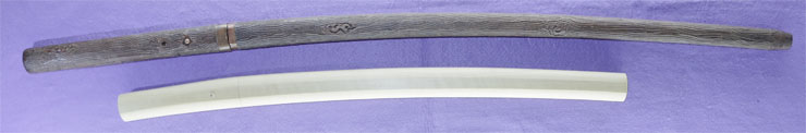 wakizashi Mumei No signature [mihara] [Sword cane] (zatoichi stick) Picture of SAYA