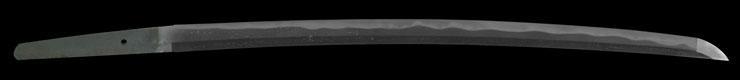 wakizashi [mutsu daijo miyoshi nagamichi] (miyoshi nagamichi 1 generation) (sintou jou-saku) (Saijo ohwazamono) Picture of blade
