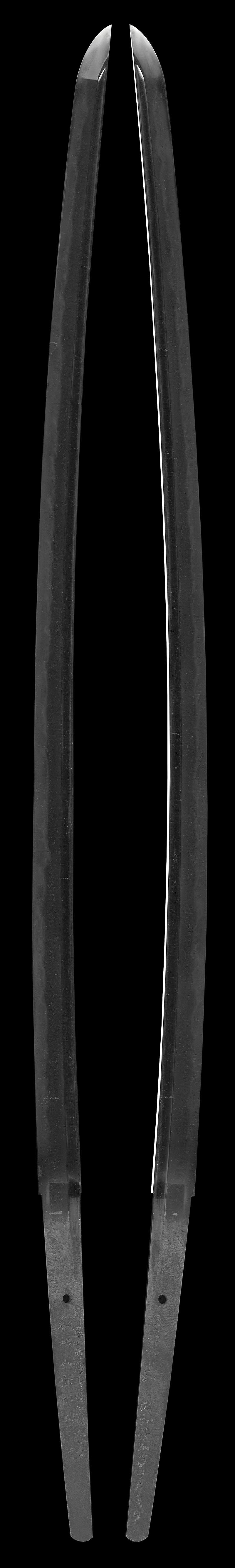 刀 剣道七段居合道七段教士和田八郎所用之  慶雲斎直弘  昭和三十五年手五月六日(柳川昌喜)Picture of whole