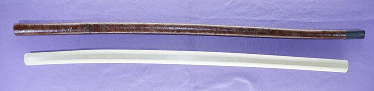 katana [omi_no_kami fuji] (fujiwara tsuguhiro)(wazamono)[Sword cane] (zatoichi stick)       (Gold inlay setsudan mei) [yamano kauemon_no_jyo] Picture of SAYA