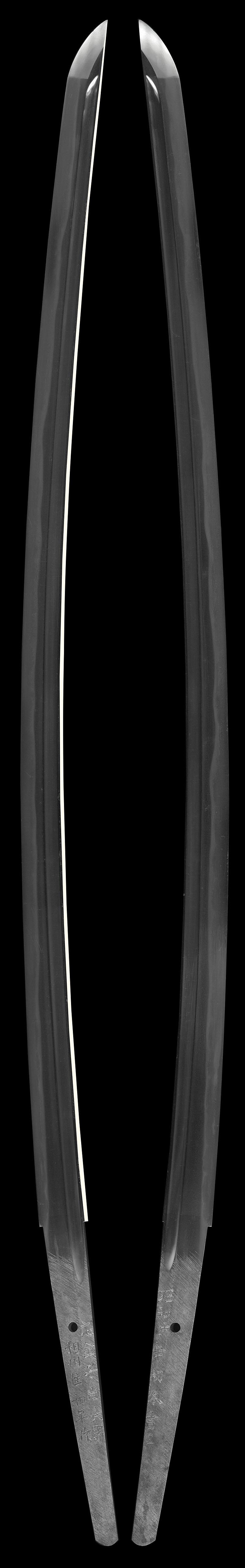 刀  相州住和平作 応金子尚氏需 (大久保和平) (無鑑査刀匠) (人間国宝 宮入昭平 門人)  昭和壬子年初冬吉日Picture of whole