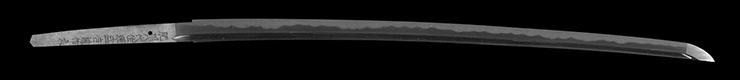 katana [hishu yatsushiro_ju minamoto moriyoshi SHOWA 51] (tanigawa moriyoshi) (mukansa) Picture of blade