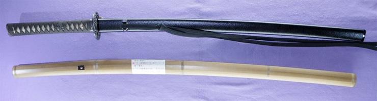 katana [heianjo fujiwara morikuni] (wazamono) Picture of SAYA