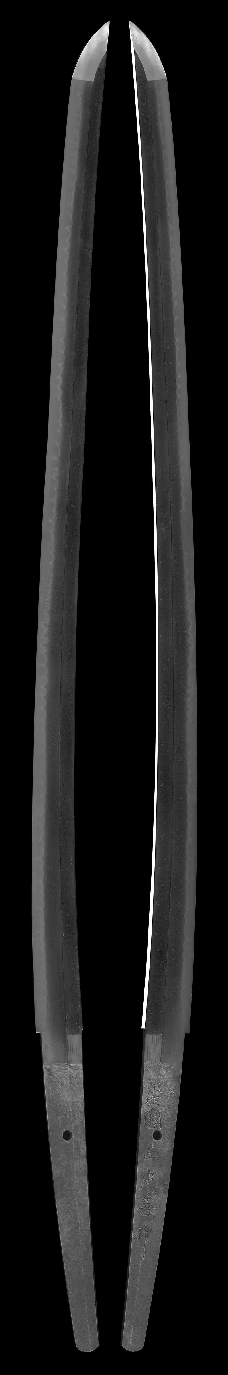刀 出雲国住忠善作(初代)(無鑑査刀匠)(島根県無形文化財)(軍刀拵入り)Picture of whole