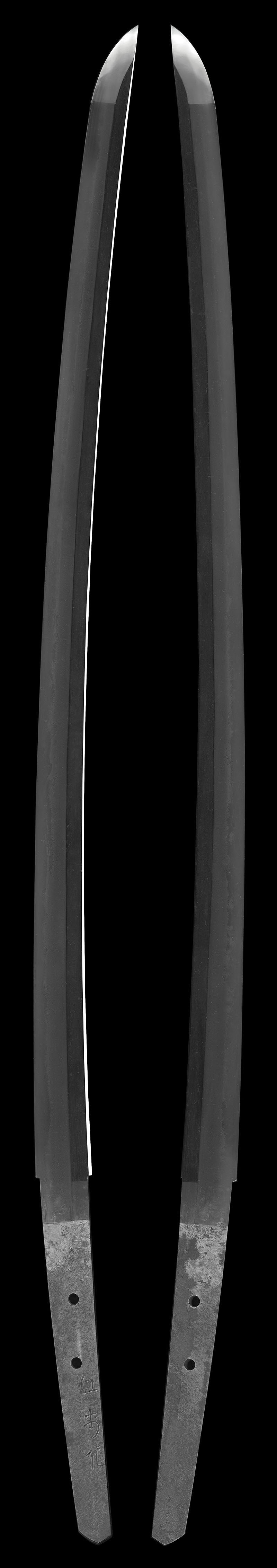 刀 江村作(昭和) (一原長光) (軍刀拵入り)Picture of whole