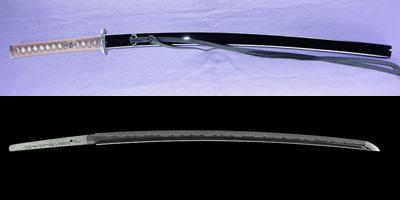 katana [bushidou higo_koku yatsushiro_ju akamatsu tarou kanehiro use homemade iron REIWA 3 april ] (kimura kaoru) (shinsakutou new sword)thumb