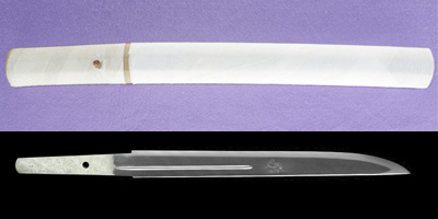 tantou [SHOWA 58 yoshimitsu hori dou saku] (The carving is the same author) (ohno yoshimitsu) (mukansa)thumb