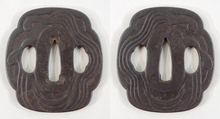 tsuba  Water and Moon No signature [After ages yagyu] Picture